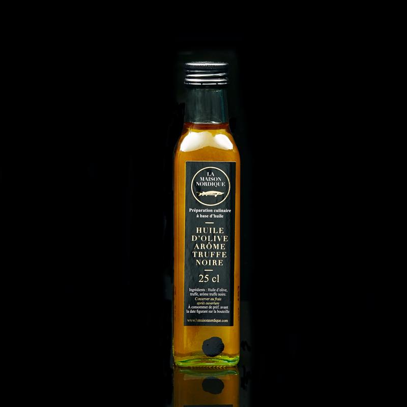 Huile d'Olive arôme Truffe Noire - bouteille de 250ml - La Maison Nordique