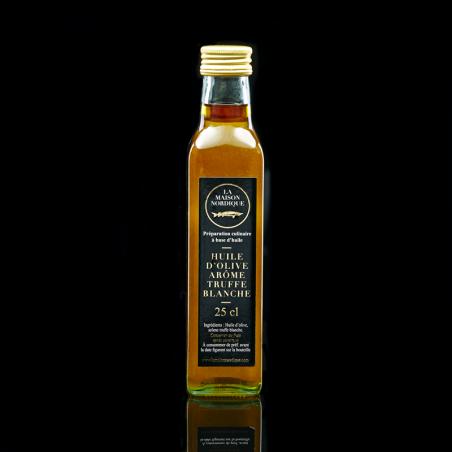 Huile d'Olive arôme Truffe Blanche - bouteille de 250ml - La Maison Nordique