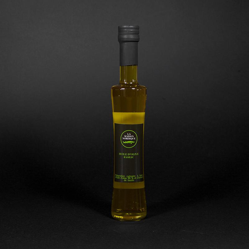 Huile d'olive basilic - La Maison Nordique